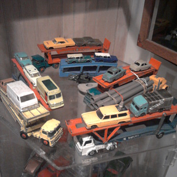 Matchbox Guy Warrior trucks were great car carriers...  Husky made a nice Carrier too shown in photo... - Model Cars