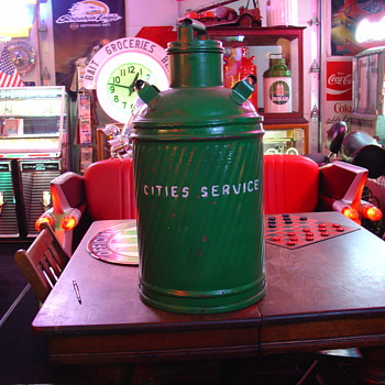 Embossed...Cities Service...Ten Gallon Oil Can - Petroliana
