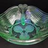 Josef Inwald Fish Footed Bowl - Uranium Glass