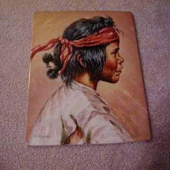 Native American man/boy Art Pottery? - Pottery