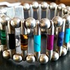 BIG HIGH GRADE SILVER BRACELET WITH SEMI PRECIOUS STONES