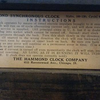 Hammond Gothic clock Series G No. 1010