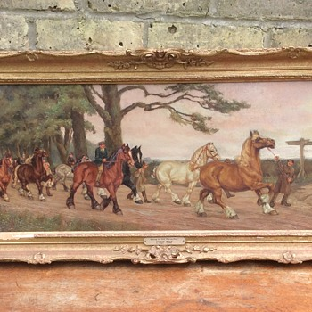 Going to the horse fair (Travellers horses) Edwin Bold 1891-1899 Oil painting - Fine Art