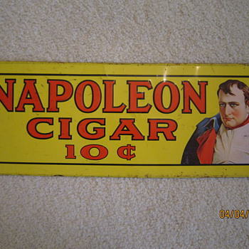 Steel Napoleon Cigar Advertisement Sign - Tobacciana