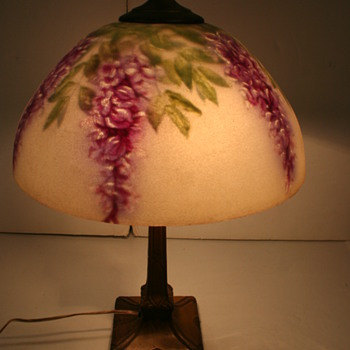 Pittsburg Reverse Painted Lamp Wisteria Design - Lamps