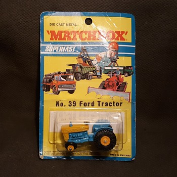 More Mega Mechanical Matchbox Monday MB 39 Ford Tractor On Superfast Card 1971 - Model Cars