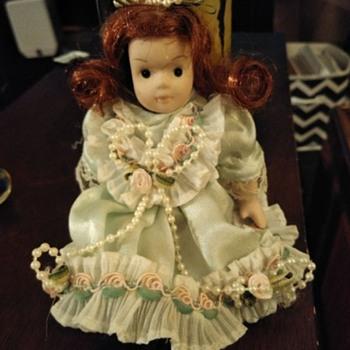Porcelain doll, odd marking - Dolls