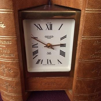 Les Trois Mousquetaires Jaeger book clock - Clocks