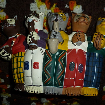 Cat Clay Flute - Musical Instruments