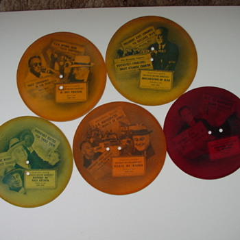 """FDR Presidential speaches on 8"""" 78RPM records"""