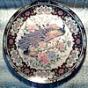 """Toyo"" Japanese Porcelain 10"" Plate / Peacock and Peonies wih Gilt Accents / Circa 1970"