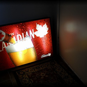 MOLSON CANADIAN Beer Light up Sign // Poster  - Signs