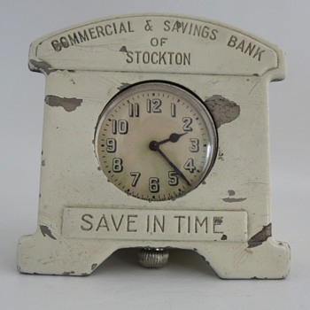 Pocket Watch Coin Bank - Coin Operated