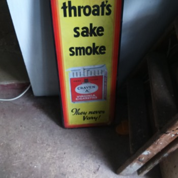 """Craven A """"For your throat's sake smoke Craven """"A""""  They never vary!"""""""