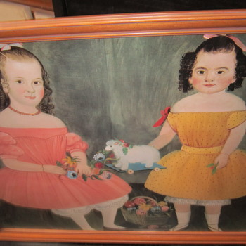 Portrait of 2 children from around the 20's? - Fine Art