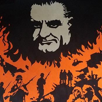 "Original 1960s Anti LBJ ""Great Society"" Day Glo Poster - Politics"