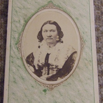 CDV copy image of woman from Clarksville, TN
