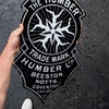 "Vintage English Porcelain The ""Humber"" Head Badge Sign"