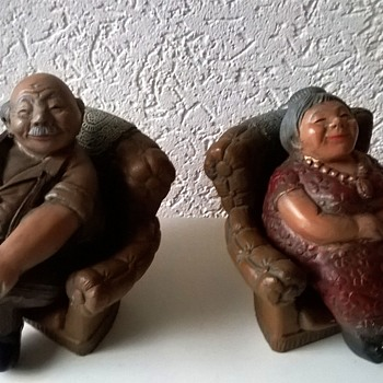 Parastone Grandmother & Grandfather, Together Again..... - Figurines