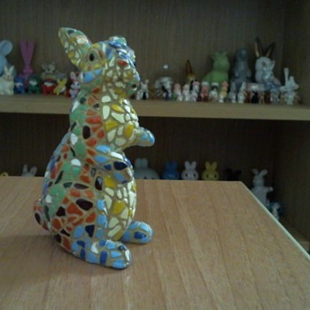 my mosaic ceramic bunnys - Animals