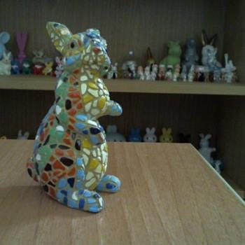 my mosaic ceramic bunnys - Animals