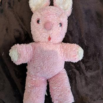 Richard Toy Co. 1980 Pink Plush Bunny - Animals