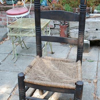 Cane [?] Seated Ladderback Chair - Furniture