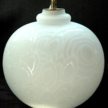 "LARGE ART DECO LAMP FEET "" KAZA"" etling edition. - Art Glass"