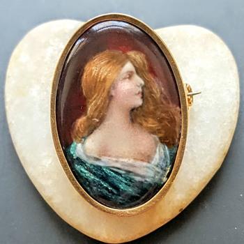 Enamel miniature brooch P.Bonnaud