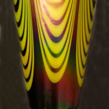 Kralik Pulled Loop Vase - Art Glass
