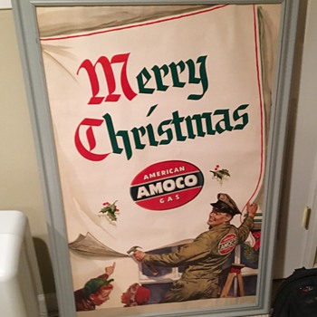 1950s Amoco Christmas sign  - Signs