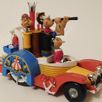 1967 Corgi Popeye Padde-Wagon w/Box - Model Cars