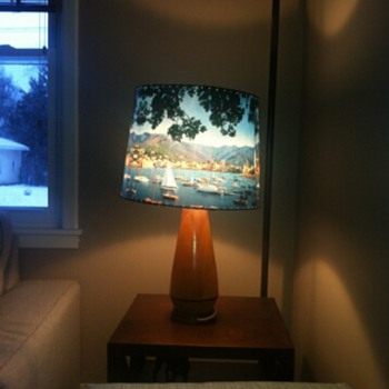 Vintage sailboat lamp