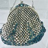 Mini metal & blue stone evening bag