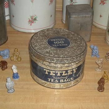 Vintage Tetly Tea Tin Held 100 Tea Bags - Kitchen