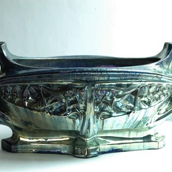 """JULES CAYETTE  art nouveau lustre pottery jardiniere """" les sauterelles """" 1906 - Art Nouveau"""