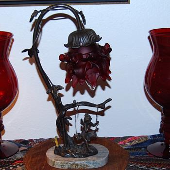 Reproduction of an Auguste Moreau -- Perhaps - Lamps