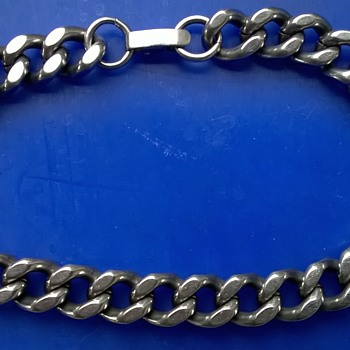 Expandro St. Steel West Germany Chain Link Men's Bracelet Flea Market Find $3 - Fine Jewelry
