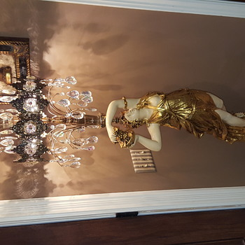 """Extrodinary Pair of Beautiful Floor Lamps 61"""" tall x2.5 wide Chandelier's - Lamps"""