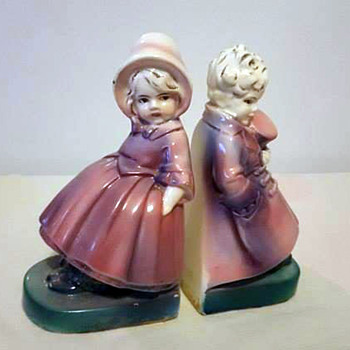 Two Girls as Victorian Bookends - Books