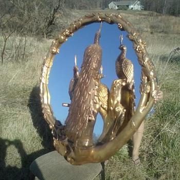 Vintage Peacock Mirror - Furniture