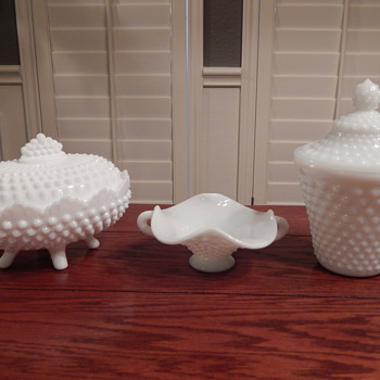 Fenton milk glass hobnail - Glassware