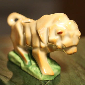 Cubist Lustreware Lion - Toothpick Holder? - Figurines