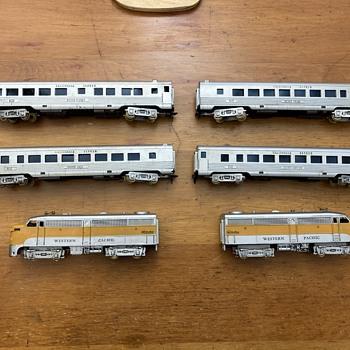 """1955 HObbyline train set #461 """"The California Zephyr. - Model Trains"""