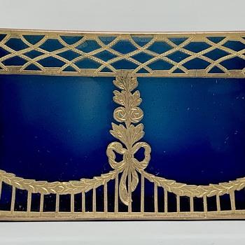 Loetz Blue Metallin Optisch Jardiniere, PN II-3402, ca. 1905 - Art Glass