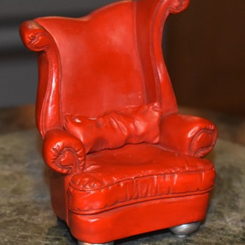 Take a seat!  Cool little chair from goodwill. - Furniture