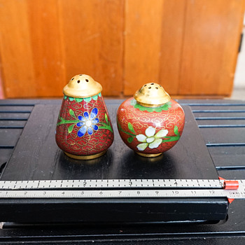 Cloisonne Salt & Pepper Shakers