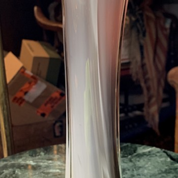 Cased Glass Vase - Cobra Lily? - Art Glass