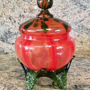 Welz lidded dishes  - Art Glass