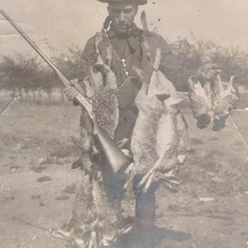 Grandpa early 1900 hunting Pic - Photographs